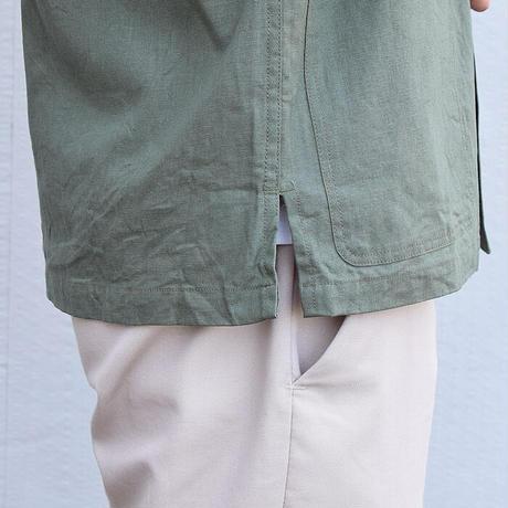 <BARNS> 綿麻 ハンティングジャケット