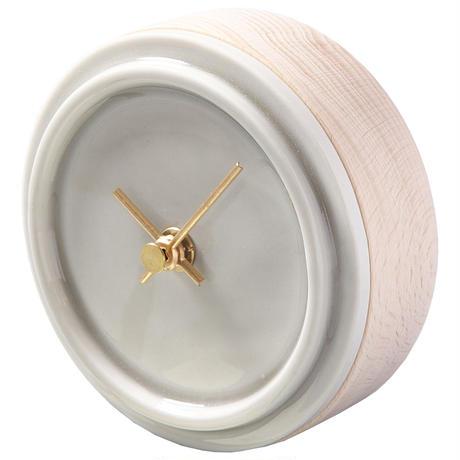 置き時計*TILE WOOD CLOCK WP-11(ペールグレー)