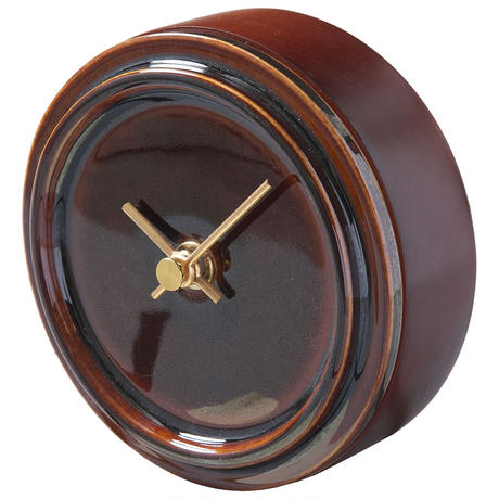置き時計*TILE WOOD CLOCK WZ-03(飴釉)