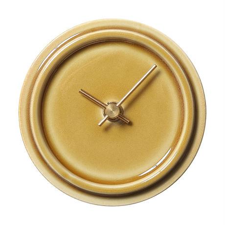 置き時計*TILE WOOD CLOCK WP-14(ペールイエロー)