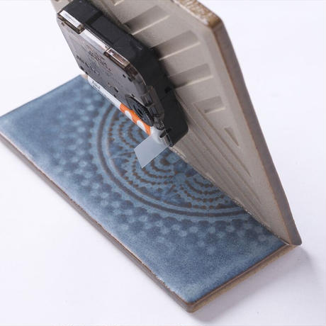 置き時計*LACE TILE CLOCK FOG-4RE(ブラック)