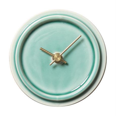 置き時計*TILE WOOD CLOCK WP-13(ペールグリーン)