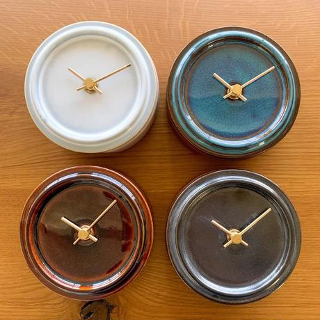 置き時計*TILE WOOD CLOCK WZ-04(メタル釉)