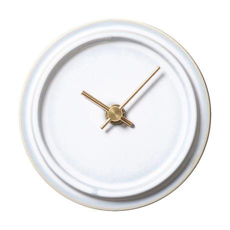 置き時計*TILE WOOD CLOCK WZ-01(乳白釉)