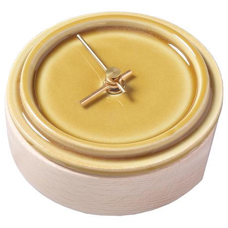 置き時計*TILE WOOD CLOCK WZ-02(青海鼠釉)