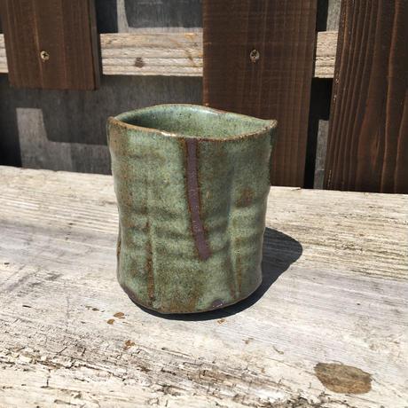 籾灰釉湯呑み