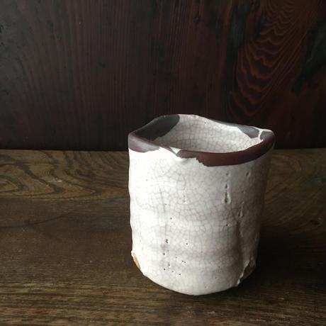 長石釉湯呑み