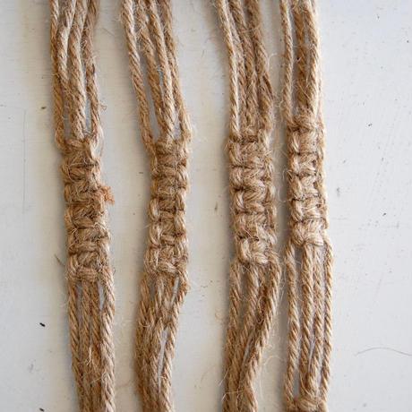 【レシピ】マクラメ編みのプラントハンガー
