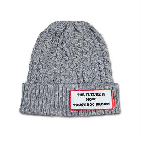 TRUST DOC BROWN CABLE KNIT CAP