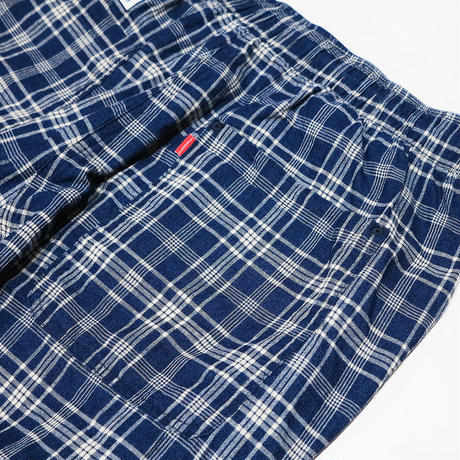 INDIGO CHECK HAWAIIAN BEACH PANTS
