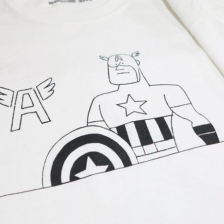 HEADGOONIEMOVIE x MARVEL©︎  DOODLE CAPTAIN AMERICA T-shirts