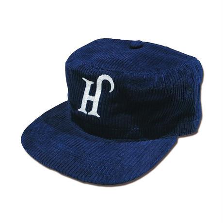 INDIGO CORDUROY PIRATE CAP