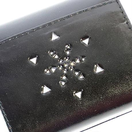 メタトロン宇宙財布/フラワーオブライフ財布/二つ折り財布/MINI/ブラック×シルバー