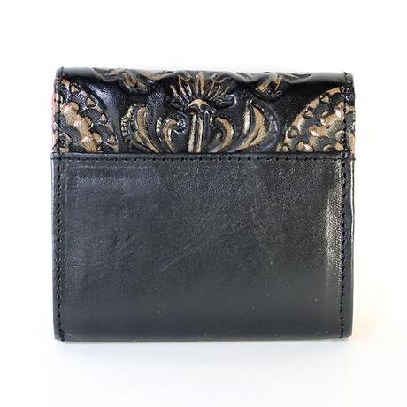 メタトロン宇宙財布/カービングシリーズ/フラワーオブライフ財布/二つ折り財布/MINI/ブラック×レッド