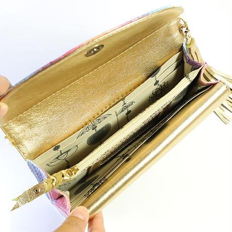 メタトロン宇宙財布/ドラゴン財布/パイソン長財布/WF/ホワイトレインボードラゴン×ゴールド