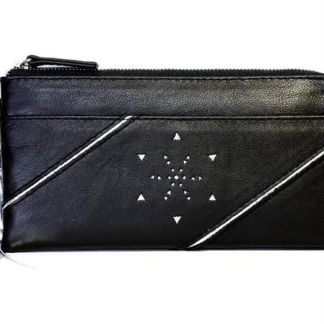 メタトロン宇宙財布/フラワーオブライフ財布/長財布/LF/ブラック×シルバー