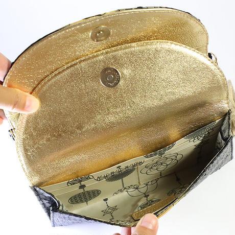 メタトロン宇宙財布/ドラゴン財布/パイソン長財布/WF/ブラックドラゴン×ゴールド
