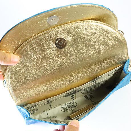 メタトロン宇宙財布/ドラゴン財布/パイソン長財布/WF/ターコイズドラゴン×ゴールド