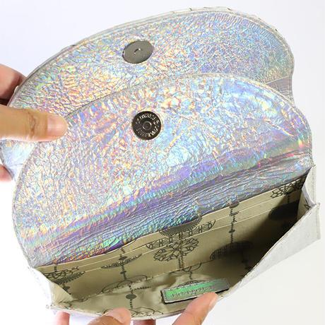 メタトロン宇宙財布/ドラゴン財布/パイソン長財布/WF/パールホワイトドラゴン×レインボーシルバー