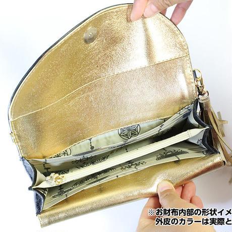 メタトロン宇宙財布/フラワーオブライフ財布/長財布/WF/ゴールド×ゴールド
