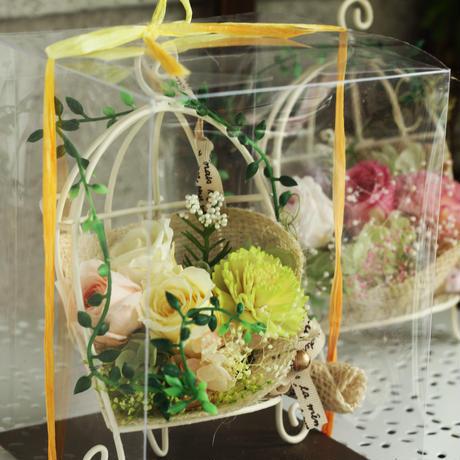 購入者限定・クリア-BOXのみ/王道定番プリザーブドフラワーアレンジ、アイアン&花束アレンジ用