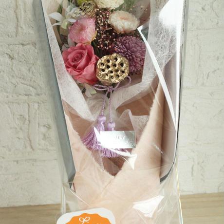 お供え用プリザーブドフラワー花束・タッセルパープル