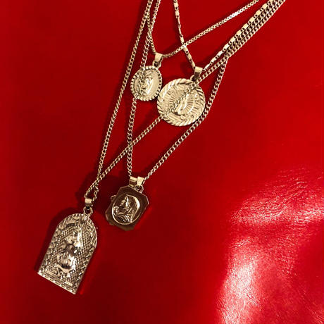 Vintage Silver catholic medai choker