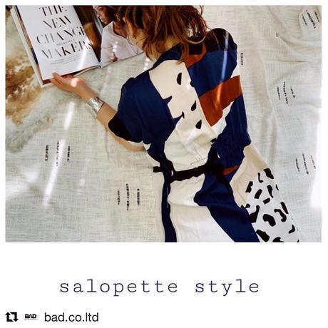 DAZZLE・Printed Salopette