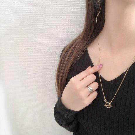 3way snake chain necklace