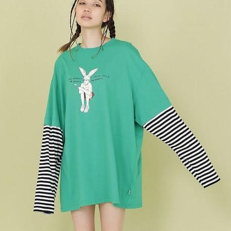 RABBIT BOY LAYERD LONG TEE