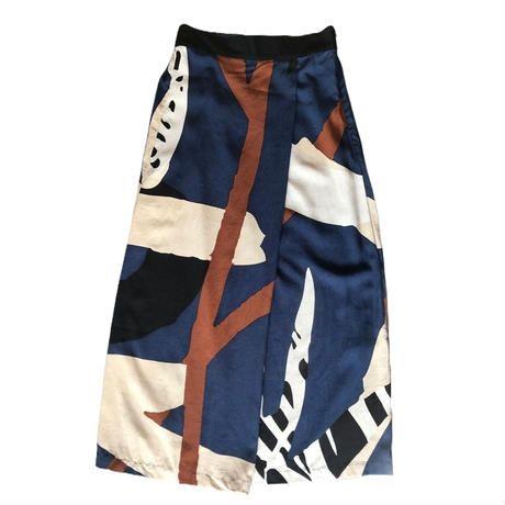 DAZZLE・Linen Printed Skirt