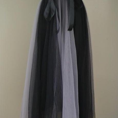 2トーンチュールスカート