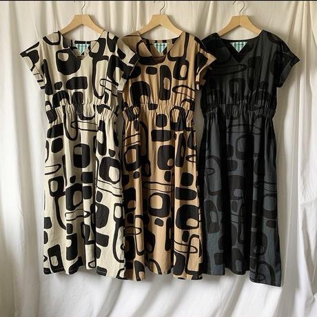 Manic Monday・Print Linen Dress