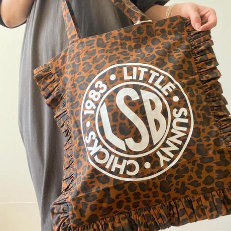 LSB Logo frill tote bag / LEOPARD