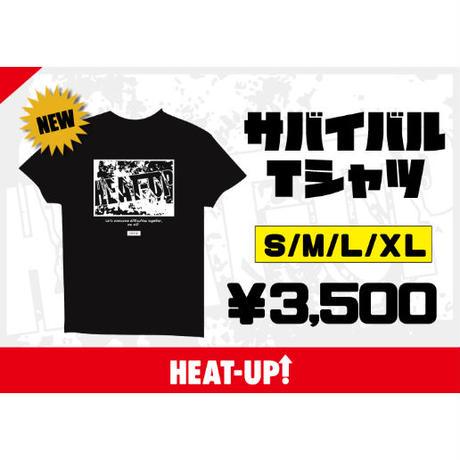 """""""サバイバル""""バックプリントTシャツ【レッド】"""