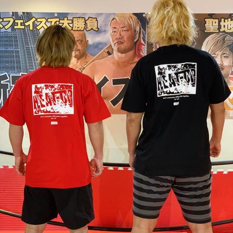 """【再入荷】""""サバイバル""""バックプリントTシャツ【ブラック】"""