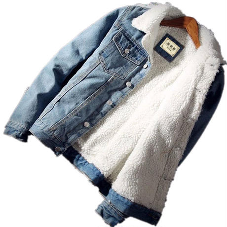 極暖 ボア デニムジャケット
