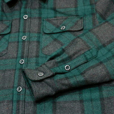 "KUSTOMSTYLE  ""C10"" BOA LINED CHECK JACKET GREEN"