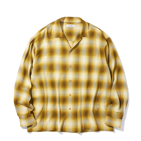 RADIALL LO-N-SLO - OPEN COLLARED SHIRT L/S   YELLOW