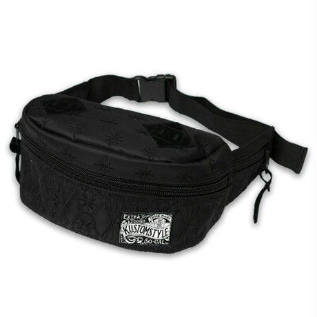 KUSTOMSTYLE BANDANA WAIST BAG BLACK/BLACK EMBROIDARY