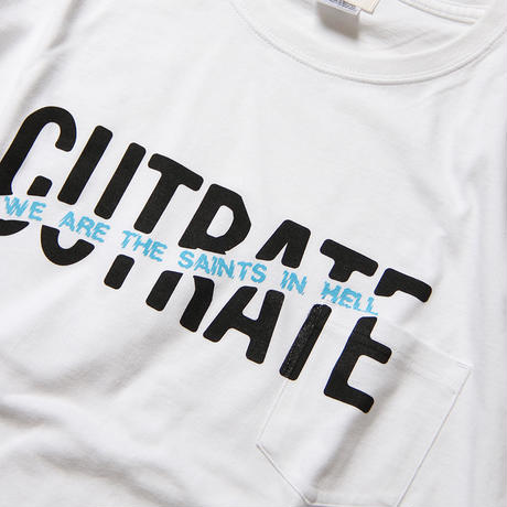 CUTRATE BIG SIZE LOGO POCKET T-SHIRT WHITE