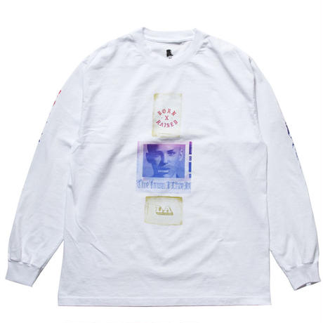 BORN X RAISED  EUGENE L/S TEE WHITE #33501