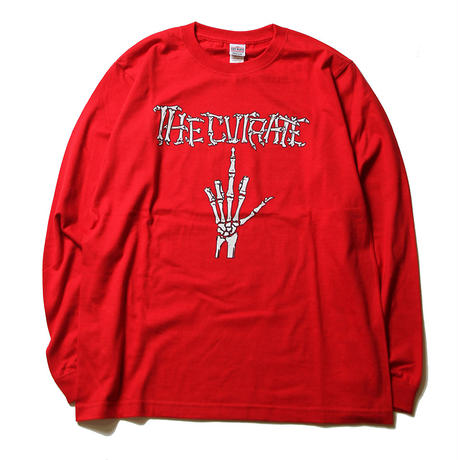 CUTRATE BONE FINGER L/S T-SHIRT RED
