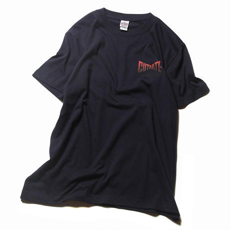 CUTRATE GRADATION LOGO T-SHIRT NAVY