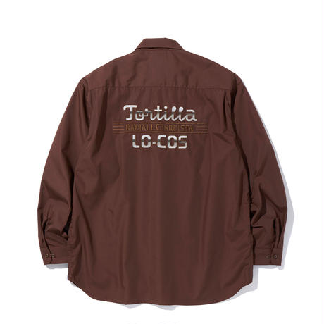 """RADIALL """" TORTILLA """" OPEN COLLARED L/S  BROWN"""