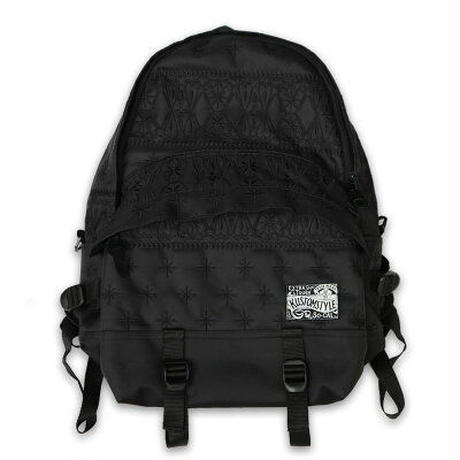 KUSTOMSTYLE  BANDANA BACK PACK BLACK/BLACK EMBROIDARY