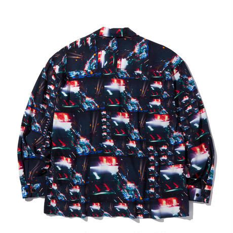 """RADIALL """"LOW AND SLOW"""" OPEN COLLARED SHIRTS L/S"""