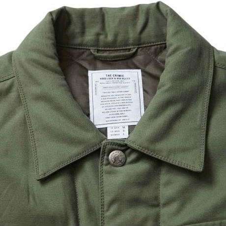CRIMIE BACK SATAIN THINSULATE COVER ALL JACKET OLIVE