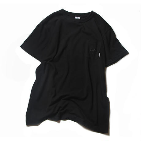 CUTRATE MOSS STITCH T-SHIRT BLACK