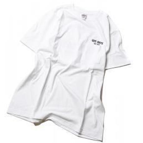 CUTRATE LOGO POCKET T-SHIRT WHITE